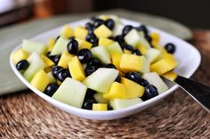 Honeydew, Blueberry and Mango Salad with Lime-Ginger Reduction | Mel's Kitchen Cafe