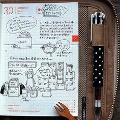 cute drawing in hobonichi