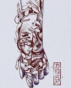Japan Tattoo Design, Clock Tattoo Design, Japanese Tattoo Designs, Japanese Tattoo Art, Tattoo Design Drawings, Tattoo Sleeve Designs, Tattoo Sketches, Sleeve Tattoos, Acab Tattoo