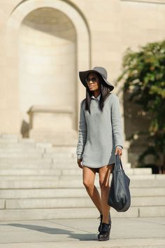 unif sweater clipperton fedora ray ban freepeople missguided urban outfitters uoonyou hm fedora miista boots shoes baltimore federal hill blog weworewhat lookbook ootdmagazine chictopia blogger ootd black model