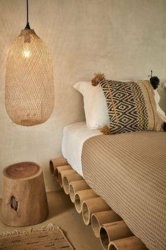 Relaxing and natural bedroom design Home Bedroom, Bedroom Decor, Bedroom Ideas, Teen Bedroom, Bedroom Rustic, Bedroom Lighting, Bali Bedroom, Budget Bedroom, Design Bedroom
