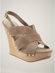 Love these shoes by Gap. $89.50 #shoes #wedges