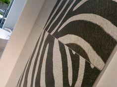 "Bien Seramik proposes ""Safari"", unconventinal Ceramic tiles that reproduces wild animal's fur.  Pad. 19.  #MCaroundCersaie #Cersaie"