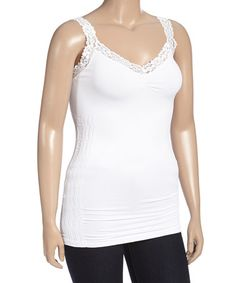 Another great find on #zulily! White Lace Camisole - Plus #zulilyfinds