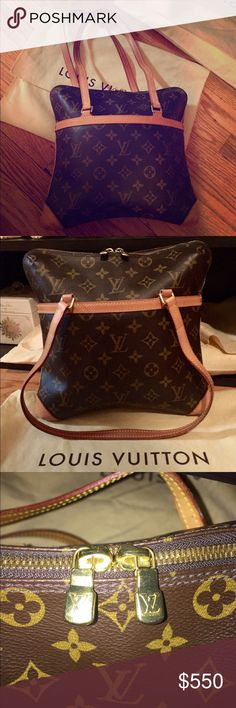 "💯Authentic Louis Vuitton Coussin Handbag Authentic Louis Vuitton Coussin shoulder bag. Patch pocket on the front. Two top zippers. Two inside pockets. Beautiful raspberry red alcantara fabric interior. 11.5""x10.5"" Date code SD0064. Minor scuffing on the bottom corners. See picture. Clean exterior and interior. No smell. Comes with dust bag. Feel free to ask questions. 😊 Louis Vuitton Bags Shoulder Bags"