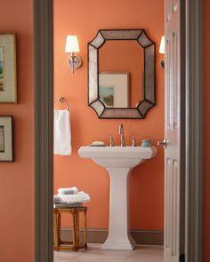 27 Best Orange Bathroom Decoration