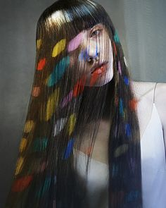Temporary hair dye is great to use especially if one wishes to change the hair color only for a few days. Fantasy Hair Color, Temporary Hair Dye, Hair Chalk, Beautiful Hair Color, Hair Colorist, New Hair, Dreadlocks, Hairstyle, Pictures
