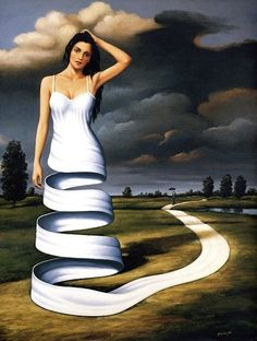 Rafal Olbinski    This is a wonderful way to portray the journey of becoming a…