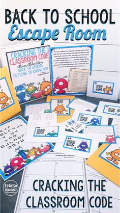 "This is the perfect back to school activity. On the first day of school, or even during the first week of school, have fun getting your students to know each other. This is an escape room game with a twist on the ""Find Someone Who"" game. This is a breakout game where the principal has been abducted by aliens, and the students must rescue him or her! Great for kids in third, fourth, fifth, or sixth grade. Need a fun escape room game for your class the first day of school? This is it!"