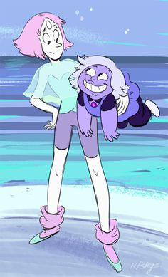 amethyst and pearl. Steven universe