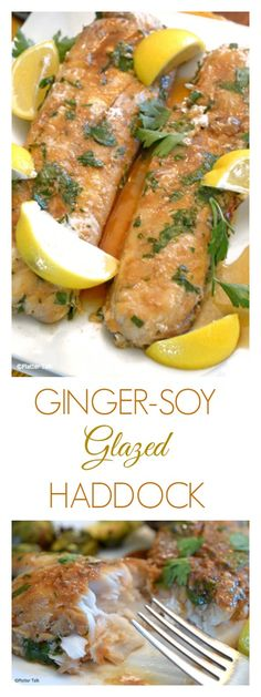 Ginger and Soy Make this Healthy Haddock Recipe Simply Delicious! Try these bake… Ginger and Soy Make this Healthy Haddock Recipe Simply Delicious! Try these baked haddock fillets with an Asian twist tonight! Best Seafood Recipes, Healthiest Seafood, Baked Haddock Recipes, Recipes With Haddock Fish, Asian Fish Recipes, Cooking Recipes, Healthy Recipes, Fun Recipes, Gourmet