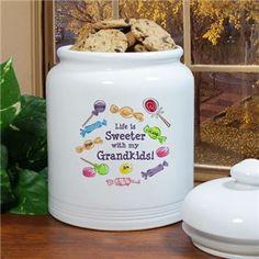 Personalized Cookie Jar for Grandma | Printed Grandma Cookie Jar