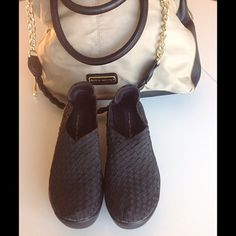 Steven Madden black wedges. Steven Madden black wedges. Only worn twice! Excellent shape ****no reasonable offers refused*** Bundle with Steve Madden bag also listed in my closet and save 20% on both!  Steve Madden Shoes Wedges