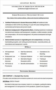 Hr Assistant Cv Template Job Description Sample Candidates