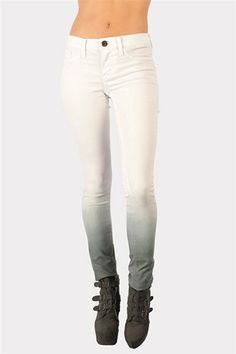 Ombre Skinny Jeans - White at Necessary Clothing