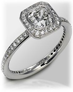 I love square rings! Square Engagement Rings, Square Rings, Tiffany Jewelry, Something Old, Diamond Are A Girls Best Friend, Wedding Rings, Wedding Band, Dream Wedding, Bling