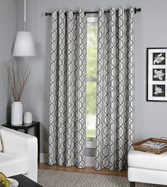 Elrene Home Fashions Creston Window Panel (Gray) - 52'W X 95'L ** Visit the image link more details. (This is an affiliate link) #WindowTreatments