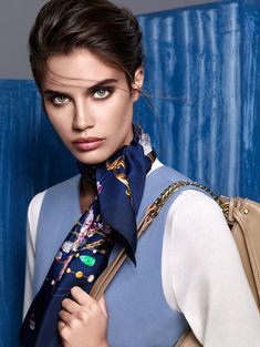 Supermodel Sara Sampaio stars in Aker's Fall Winter advertisement captured by fashion photographer Koray Parlak with styling from Nazlı Kayran. Sara Sampaio, Balmain, Victoria's Secret, Victoria Secret Angels, Attractive People, Fall Winter 2015, Autumn, Blue Fashion, Women's Fashion