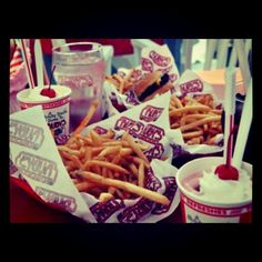 Strawberry shakes and fries!