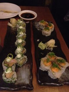 hamachi serrano chili roll and the dynamite scallop roll | A photo of Roka Akor | Added by Stacy Johnson  Image 1 of 4