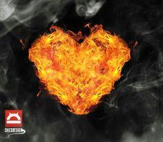 #heart #fire