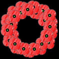 Poppy Wreath free template memorial day or remembrance day More