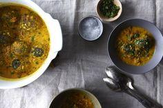 Dinner Tonight: Lentil Meatballs with Indian Fenugreek Sauce