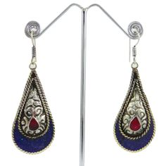 This is a beautiful Silvertone metal mosaic tiles dangle earring set. It is very fashionable jewelry.this is img Lapis Lazuli, Mosaic Tiles, Earring Set, Jewelry Gifts, Dangle Earrings, Gifts For Her, Fashion Jewelry, Brooch, Stone