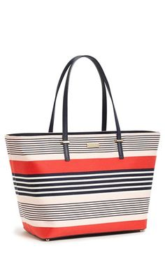 kate spade new york 'harmony cedar street stripe - medium' print tote available at #Nordstrom