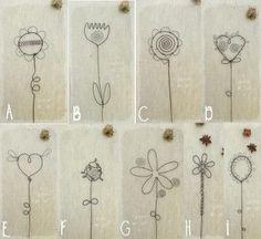 fleurs pour composer soi-même un bouquet végétal - en fil de fer  : Accessoires de maison par latelierdesof: