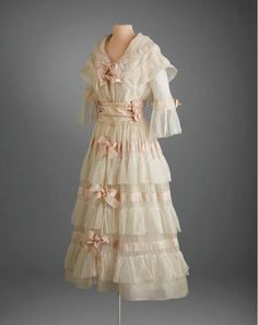 1917-1920, America Afternoon or tea dress by Lucile Lawn, tulle, silk Hillwood Museum