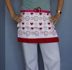 DIY Tea Towel Apron - You Just Need a Tea Towel and Ribbon!