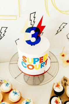 Modern super hero 3rd birthday party