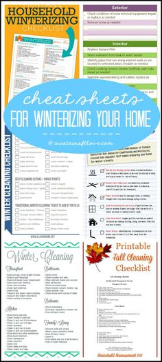 Now that we are heading into the latter half of the year, it's time to thinking about Winterizing Your Home.