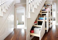 awesome house ideas - under stair storage