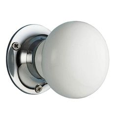 Bianco con crepe ceramica interna girevole pomelli per porta