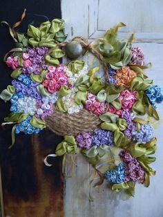 embroidery silk ribbon | Silk Ribbon Embroidery | Stitches | Pinterest