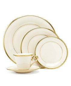 "Lenox ""Eternal"" 5-Piece Place Setting - Fine China - Dining & Entertaining - Macy's"