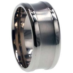 10MM Titanium Concaved Wedding Band (Size 9 to 13) Double Accent. $24.99. Titanium Wedding Band. Comes With Beautiful Jewelry Case. Prompt Shipping