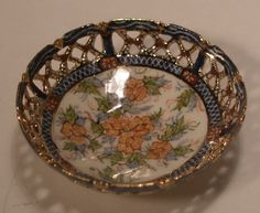 Reticulated Bowl #71 by Teresa Welch of The China Closet - $495.00 : Swan House Miniatures, Artisan Miniatures for Dollhouses and Roomboxes
