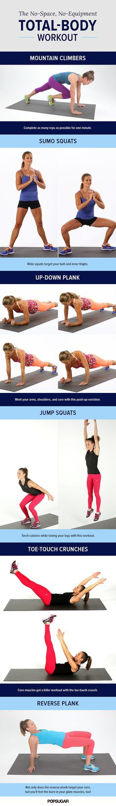 mtn climber- 1 min Other exercises: 2 sets of 10 (up down plank one arm first for 10 then switch arms) Reverse Plank: hold for minute or 30 secs at a time