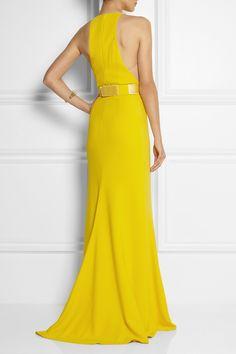 Stella McCartney|Saskia stretch-cady gown |NET-A-PORTER.COM