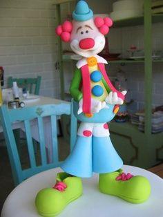 payaso muñeco de torta