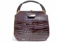 Rosenfeld 1950s 60 S Chocolate Alligator Skin Handbag