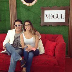 Aaron Meneses y Magdalena Parra at Vogue FNO México