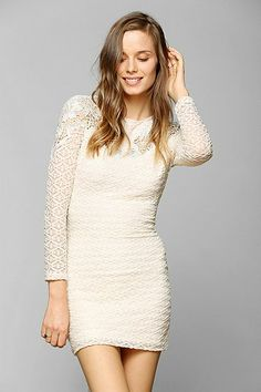 Dress The Population Noelle Lace-Inset Dress