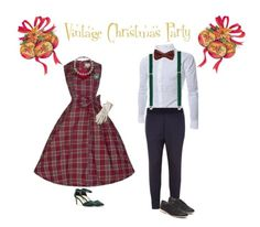 """vintage christmas party"" by singinlife on Polyvore featuring TheLees, Topman, Sole Society, Rollie and vintage"