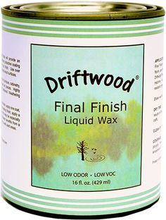 Driftwood Final Finish Liquid Wax - use when you want to preserve your driftwood weathered wood finish. Also works great over chalk paint finishes.