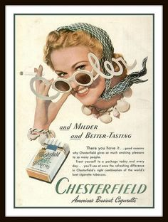 Vintage Advert for Chesterfield Cigarettes - 1940