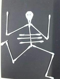 Skelet van wattenstokjes